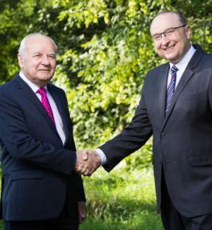 Burmistrz i Marek Banaszek